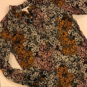 H&M Sheer Floral Blouse